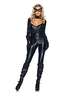 Classic Catwoman Black PU Leather Women's Carnival Party Costume