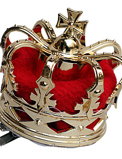 Crown Queen Fairytale Festival/Holiday Halloween Costumes Red Golden Patchwork Vintage Crown Halloween Carnival Unisex Alloy