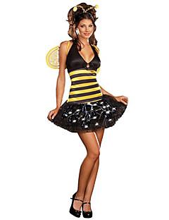 Occupato Bumblebee Yellow & Black Polyester Festa di Carnevale Costume da donna