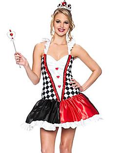 Regina di Cuori Sexy Lady Black & Carnival Party Costumi delle donne rosse