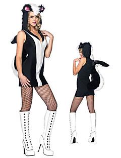 Festa di Carnevale Costume da donna sveglia Shunk Black & White poliestere