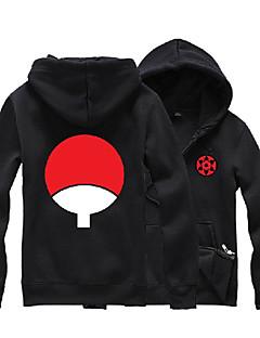 Inspired by Naruto Sasuke Uchiha Anime Cosplay Costumes Cosplay Hoodies Print Black Long Sleeve Top