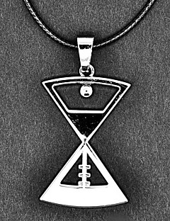 EXO Group Tao Hourglass Pattern Silver Necklace
