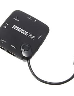 OTG USB-hub og Menory kortlæser (sort)