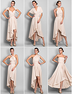 Lanting Mix&Match Convertible Dress Asymmetrical Jersey Sheath/Column Dress (633752)