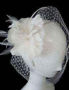 Свадебные вуали Один слой Короткая фата Фата клетки птицы ТюльПлатье-трапеция, бальное платье, платье-принцесса, платье-чехол,