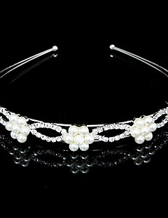 Women's/Flower Girl's Rhinestone/Imitation Pearl Headpiece - Wedding Headbands
