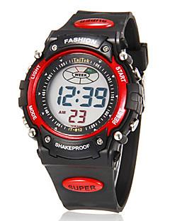 Pánské Náramkové hodinky Digitální hodinky Digitální LCD Kalendář Chronograf poplach Pryž Kapela Černá Zlatá Stříbrná Červená Modrá