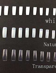 (혼합 크기 50pcsx10 분류 된 색깔) 500 전문 한국 표준 절반도 틀린 아크릴 못 예술 끝