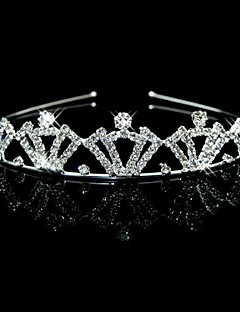 Wedding Bridal Flower Girls Kids Crystal Pearl Hair Band Pannebånd Tiara