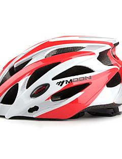 MOON Cyklistika bílé a červené PC / EPS 21 Vents Ochranné Ride Přilba