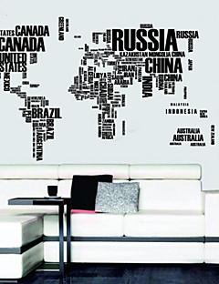 Breve Kort af World vægoverføringsbilleder Aftagelig Wall Stickers