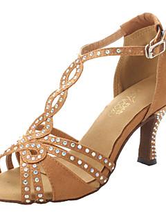 Non Customizable Women's Dance Shoes Ballroom/Latin/Salsa Satin Chunky Heel Other