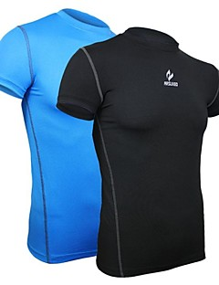 ARSUXEO® Cycling Base Layer Men's Short Sleeve Bike Breathable / Quick Dry / Anatomic Design / CompressionBase Layers / Compression