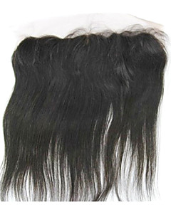 "20"" Brazilian Hair Silky Straight Lace Frontal Closure(13""*4"") Natural Color"