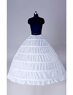 Underkjoler Balkjole Sko Gulvlængde 1 Polyester Hvid