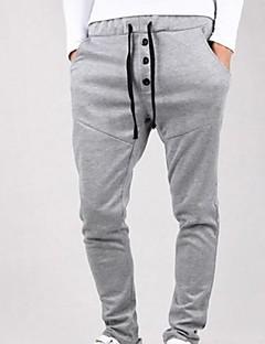 Men's Solid Casual Sweatpants,Cotton Black / Gray