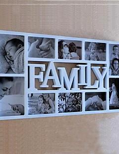 Angol szó Family Fehér ABS fotó fali keret Collection Set 10