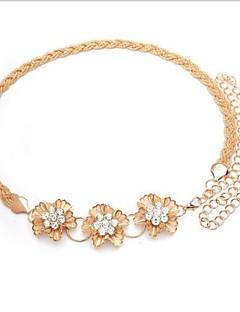 נשים פרחי חגורת יהלומים