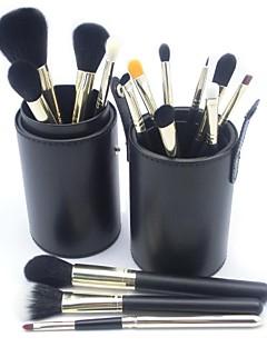 Professionale di trucco 15pcs High Quality Oro di alluminio Brush Set