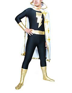 The Flash Black Lycra Zentai with Cloak Men's Cosplay Costume