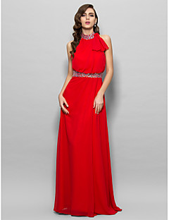 Prom/Military Ball/Formal Evening Dress - Ruby Plus Sizes A-line High Neck Floor-length Chiffon