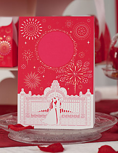 Asian Theme Red Wedding Place Cards - Set of 10