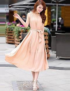 Nowy Kobiety Moda Czeski szyfonu suknia Sukienka plisowana haftowany Strona suknia Plus Size