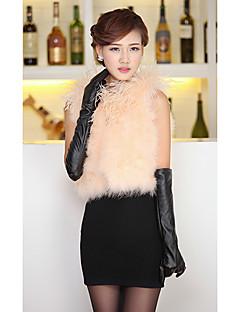 bont vest met mouwloze kraag Tacchino bont en struisvogel bont party / casual vest (meer kleuren)