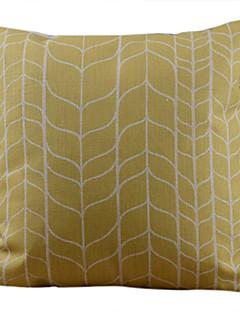 Jaune classique forfaitaire coussin décoratif couverture