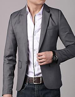 Dijie Herren Korean Style One Buckle Schlank Anzug (Grau, Schwarz)