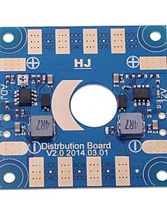 5V 12V justérbar spænding ESC Distribution Board m / Dual BEC Output