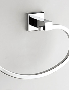 Brass Chrome Finish Towel Ring, L21cm x W14.5cm x H7cm