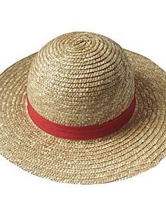 Hat/Cap Inspirirana One Piece Monkey D. Luffy Anime Cosplay Pribor Šešir Žuta Straw Rope Male