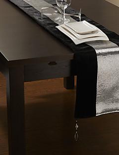 Silver Bead Design Table Runner