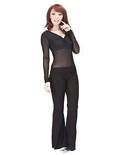 ריקוד בטן תלבושות בגדי ריקוד נשים אימון ספנדקס טול 2 חלקים שרוול ארוך טבעי עליון מכנסיים 96