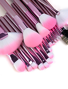 22PCS Professional Hög kvalitet Makeup Brush Set med rosa handtag