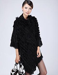 Rabbit Fur Partiet / Casual sjal / Hood (flere farger)