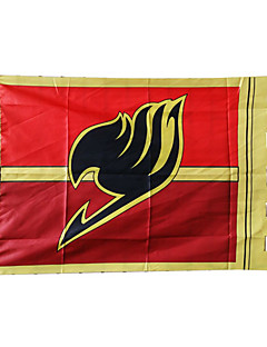 Cosplay Accessories Inspired by Fairy Tail Natsu Dragneel Anime Cosplay Accessories Flag Red Terylene Male