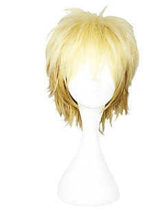 Cosplay Wigs Noragami Cosplay Golden Short Anime Cosplay Wigs 30 CM Heat Resistant Fiber Female