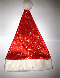 Mützen Santa Anzüge Fest/Feiertage Halloween Kostüme Rot / Weiß Hut Weihnachten Samt