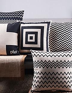 5黒と白の定期的な矢印混合装飾枕カバーのセット