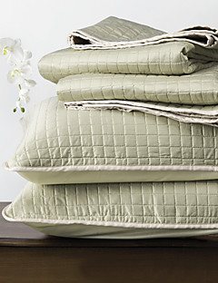 huani® quilt sæt, 3 stk plaid lysegrøn polyester