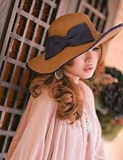 Moda feminina bowknot Straw Hat