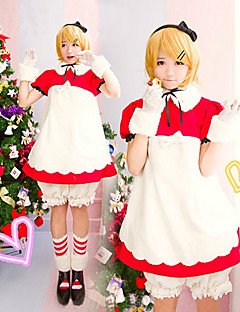Inspired by Vocaloid Kagamine Rin Video Game Cosplay Costumes Cosplay Suits Patchwork White / Red Dress / Shorts / Headpiece