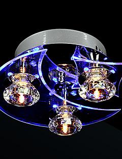 Lustre en cristal mené vie moderne 3 lumières