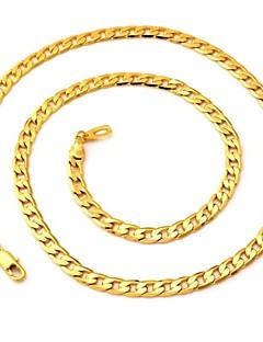 Naisten Kaulaketjut Circle Shape Gold Plated Muoti Korut Varten Häät Party Päivittäin Kausaliteetti 1kpl