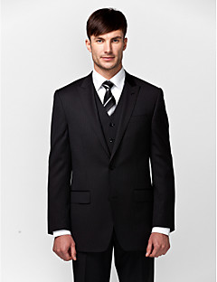 Suits Tailored Fit Slim Peak Single Breasted Two-buttons 3 Pieces Straight Flapped None (Flat Front) None (Flat Front)