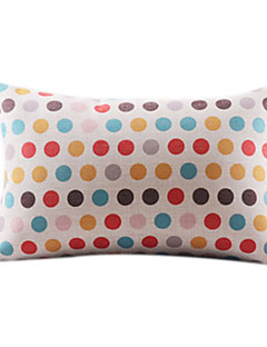 Colorful Dots Bomull / Lin Decorrative Kuddfodral