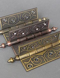 101mm × 75mm Retro Kunstnerisk Carving Mute kulelager i rustfritt stål dørhengselen